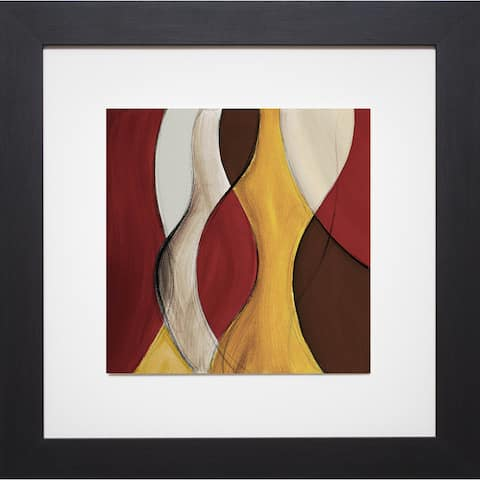 Lanie Loreth 'Crimson Coalescence II' Framed Art Print - Red