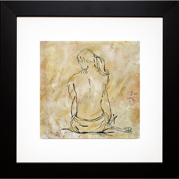 Patricia Pinto 'Nude Sketch on Beige II' Framed Art Print