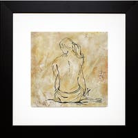 Patricia Pinto 'Nude Sketch on Beige II' Framed Art Print