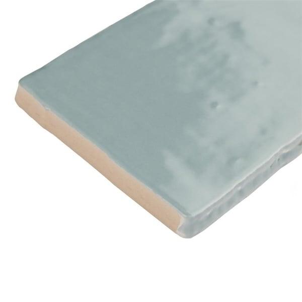 SomerTile 3x6-inch Gloucester Acqua Ceramic Wall Tile (16 tiles/2 sqft.)