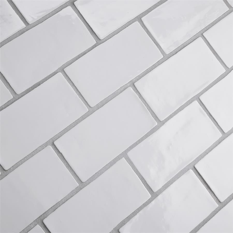 Somertile 3x6-inch Gloucester Bianco Ceramic Wall Tile (C...