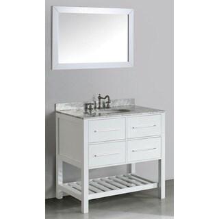 36-inch Bosconi SB-250-3WH Contemporary Single Vanity