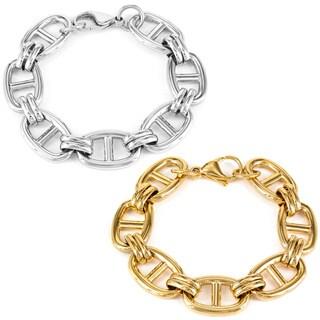 Stainless Steel ELYA Over Sized Mariner Link Bracelet
