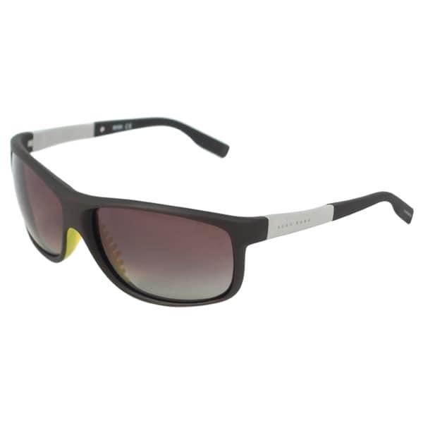 9995c6c74d0 Shop Hugo Boss Men s  0522 S Amelia  Brown Polarized Sunglasses ...