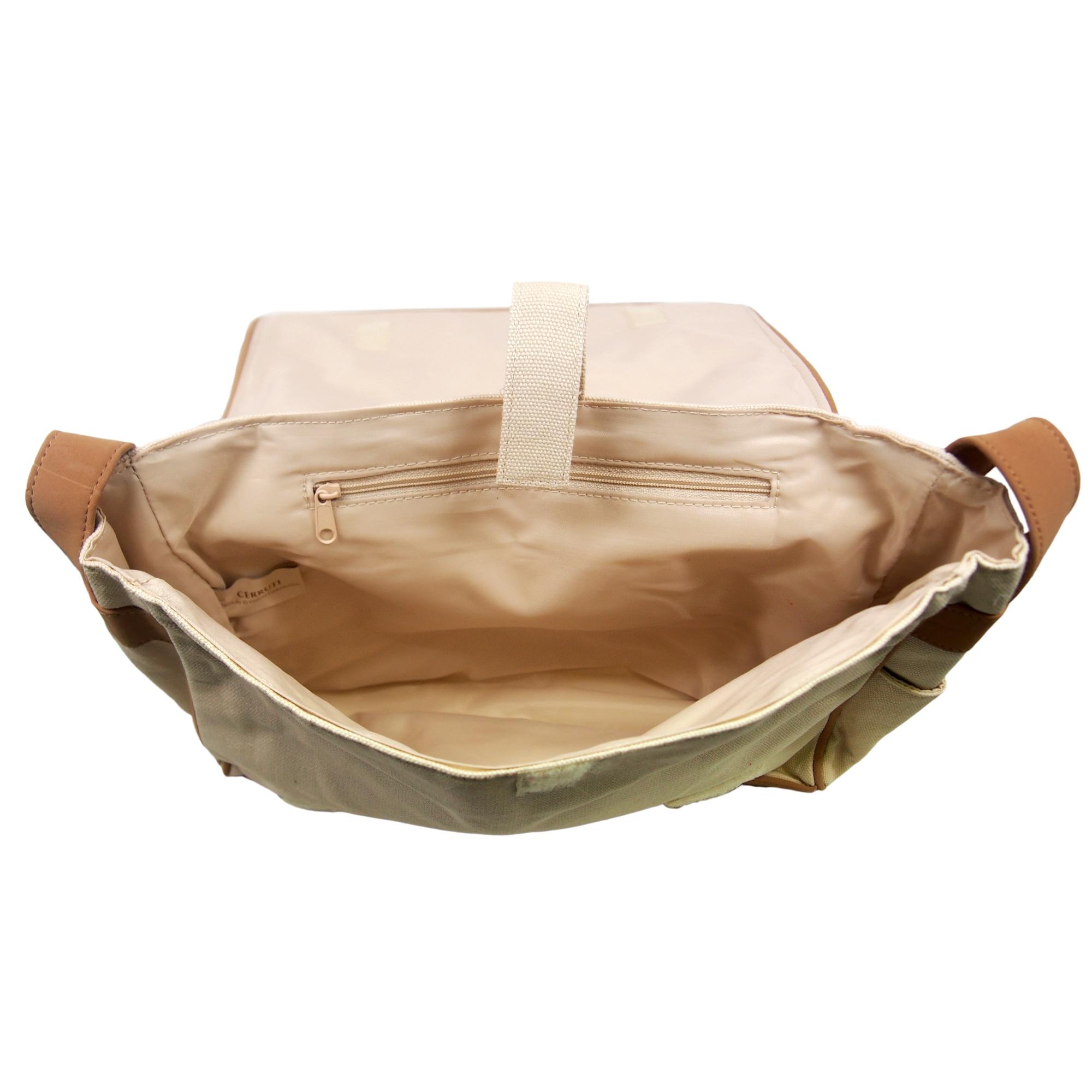 dc3783bbee2 Shop Nino Cerruti 'Cerruti' Cream Canvas Handbag - Free Shipping On Orders  Over $45 - Overstock - 9245602