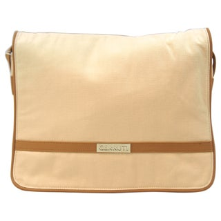Nino Cerruti 'Cerruti' Cream Canvas Handbag