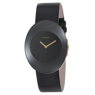 Rado Women's R53740155 'Esenza' Black Leather Swiss Quartz Watch
