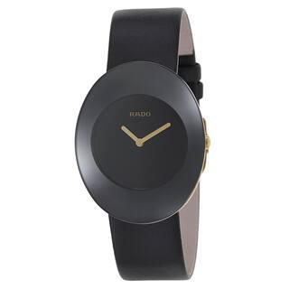 Rado Women's R53740155 'Esenza' Black Leather Swiss Quartz Watch|https://ak1.ostkcdn.com/images/products/9245644/P16411601.jpg?impolicy=medium