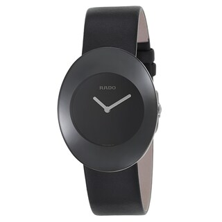 Rado Women's R53739155 'Esenza' Stainless Steel Swiss Quartz Watch - Black