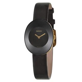 Rado Women's R53744155 'Esenza' Yellow Goldtone Stainless Steel Swiss Quartz Watch