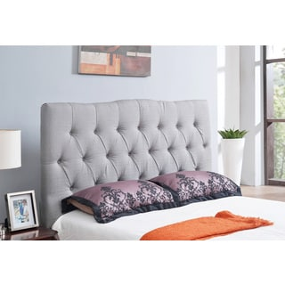 ABBYSON LIVING Aspen Grey Tufted Linen Headboard