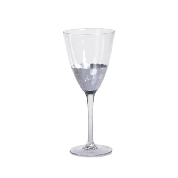 """Vitorrio"" Wine Glass, Silver (Set of 4)"