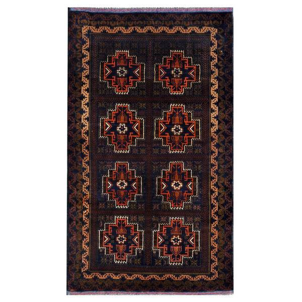5 X 6 Vintage Kazak Persian Oriental Wool Hand Knotted: Herat Oriental Afghan Hand-knotted 1960s Semi-antique