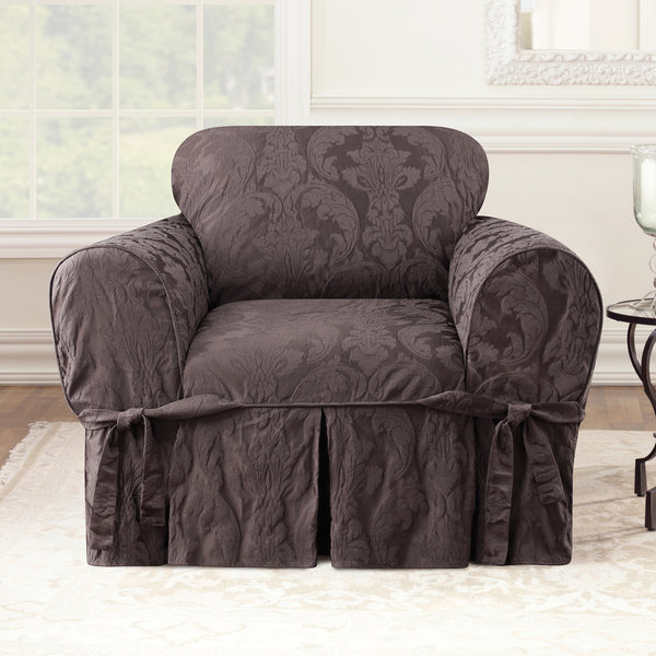 Shop Sure Fit Matelasse Damask Chair Slipcover Free Shipping Today