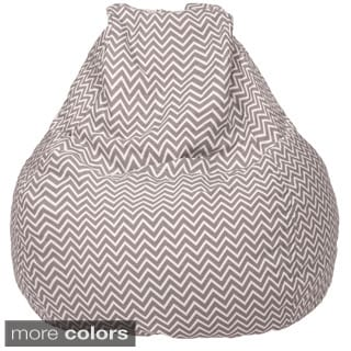 Large Teardrop 100-percent Cotton Cosmo Zig Zag Print Bean Bag