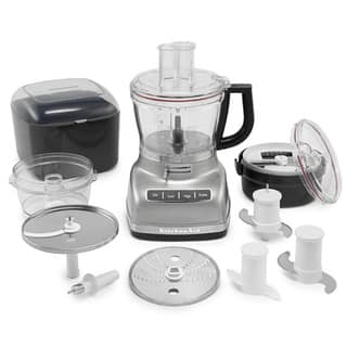 KitchenAid KFP1466CU Contour Silver 14-cup Food Processor with Commercial-style Dicing Kit|https://ak1.ostkcdn.com/images/products/9246145/P16411985.jpg?impolicy=medium