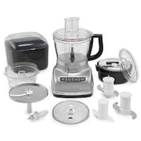 KitchenAid KFP1466CU Contour Silver 14-cup Food Processor with Commercial-style Dicing Kit