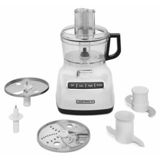 KitchenAid KFP0722WH White 7-cup Food Processor with ExactSlice System