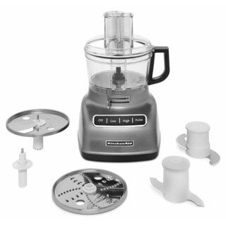 KitchenAid KFP0722CU Contour Silver 7-cup Food Processor with ExactSlice System