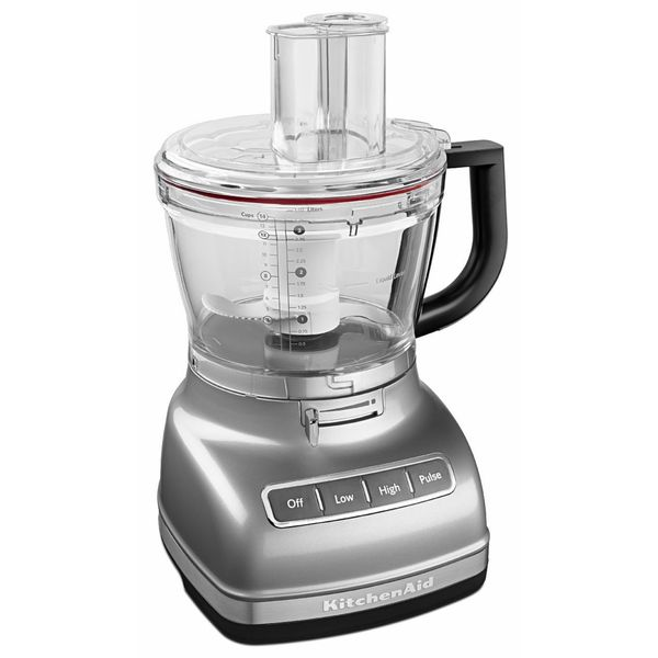 KitchenAid KFP1466ER Empire Red 14 Cup Food Processor With Commercial Style  Dicing Kit