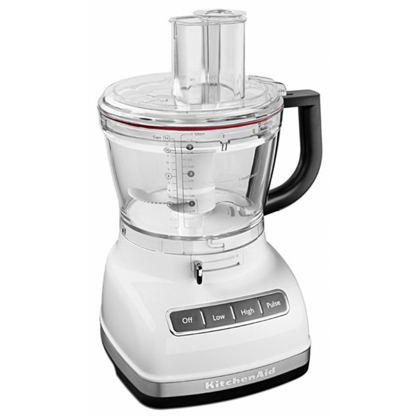 White Kitchenaid kitchenaid kfp1466wh white 14-cup food processor with commercial