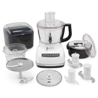 KitchenAid KFP1466WH White 14-cup Food Processor with Commercial-style Dicing Kit