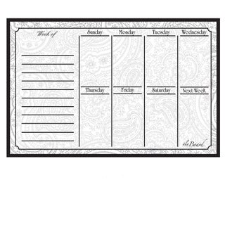 Paisely Magnetic Dry Erase Weekly Calendar