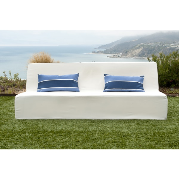 Softblock Lowboy White Indoor/ Outdoor Sofa - Free Shipping Today ...