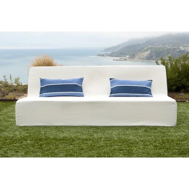 Softblock Lowboy White Indoor/ Outdoor Sofa
