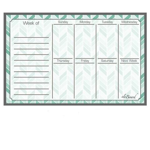 Herringbone Magnetic Dry Erase Weekly Calendar