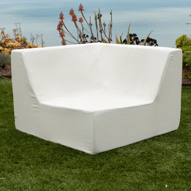 Softblock Lowbooy White Indoor/ Outdoor Corner Chair