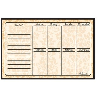 Wheat Magnetic Dry Erase Weekly Calendar