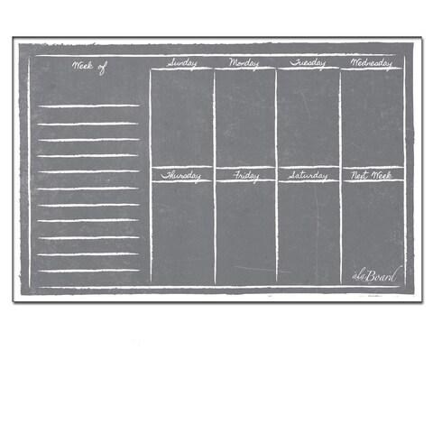Grey Chalkboard Magnetic Dry Erase Weekly Calendar