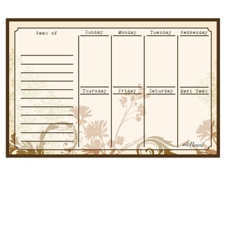 Floral Magnetic Dry Erase Weekly Calendar