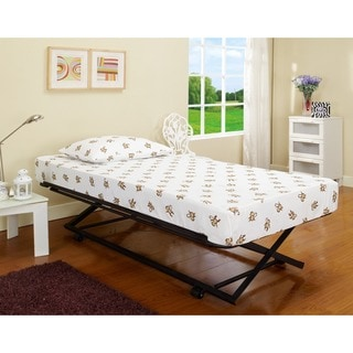 Roll-out Pop-up Steel Trundle Twin Bed