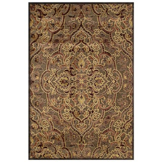 "Grand Bazaar Power Loomed Viscose Granada Rug in Coffee / Rust 9'-8"" X 12'-7"""