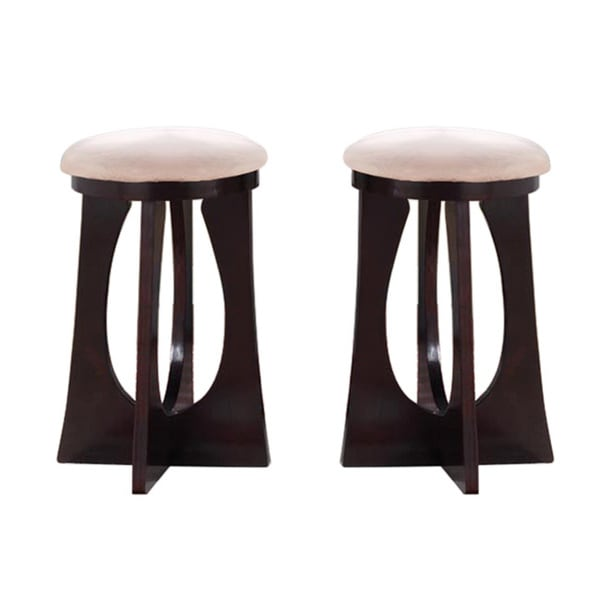 Espresso Rossi Cut Out Backless Pub Chairs Set Of 2