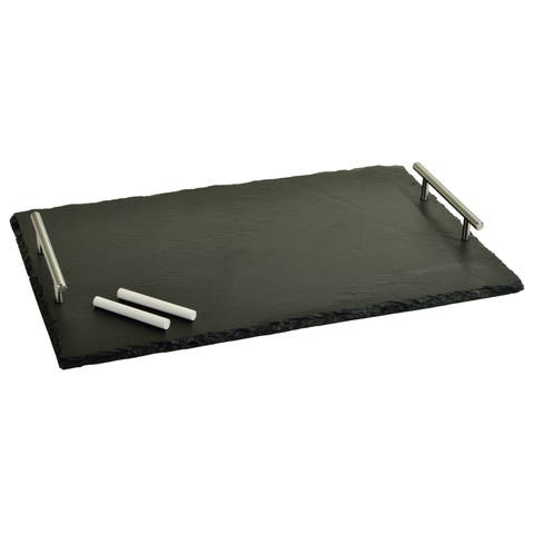 Picnic at Ascot Sardo Slate Cheese Board with Soapstone Chalk