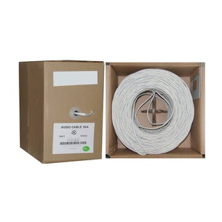 Offex 16/4 (16AWG 4C) White 65 Strand 500-foot 0.16mm Speaker Cable in Pullbox