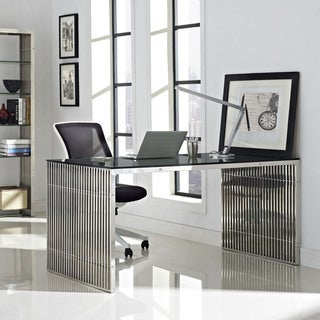 Gridiron Stainless Steel Dining Desk
