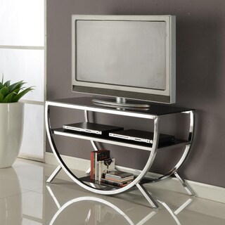Porch & Den LoDo Arapahoe Chrome TV Stand