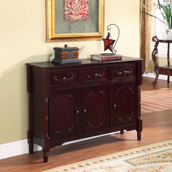 Superieur Cherry Finish Traditional Console Table