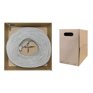 Offex Cat 5e UTP Grey 1000-foot Solid Ethernet Cable in Pull Box