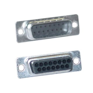 Offex DB15 Pin Male Crimping Housing for Mac or Joystick