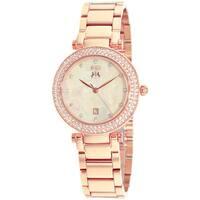 Jivago Women's Parure Rosetone Stainless Steel Watch