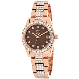 Jivago Women's Magnifique Rosetone Stainless Steel Watch