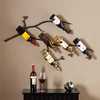 The Curated Nomad Roma Wall Mounted Branch Wine Rack Sculpture