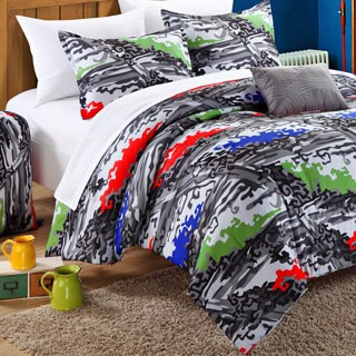 Chic Home Hero Printed White/Grey 9-piece Dorm Room Bedding Set