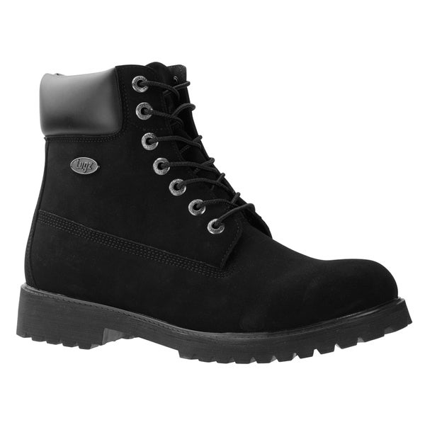 Shop Lugz Men s  Convoy WR  Black Water Resistant Lace-up Boots ... 58ee24a1ed