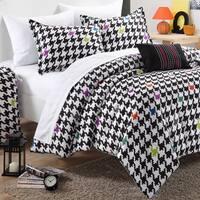 Chic Home Michelle Black/ White 9-piece Dorm Room Bedding Set